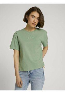 TOM TAILOR DENIM - T-shirt basic - light mint green