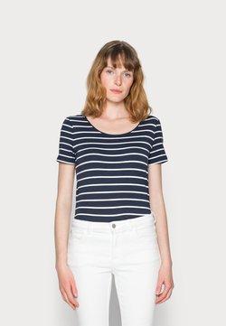 Esprit - 1/2 SLEEVE STRIPES - T-Shirt print - navy