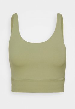 Nike Performance - YOGA LUXE CROP TANK - Funktionsshirt - celadon/olive aura