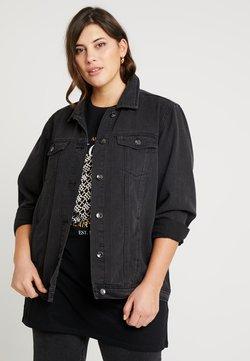 Simply Be - OVERSIZED JACKET - Veste en jean - black denim