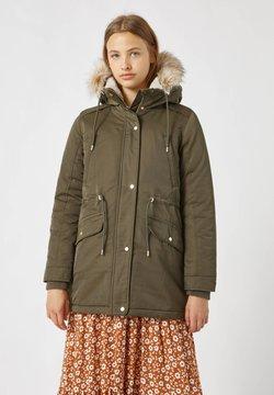 PULL&BEAR - Płaszcz zimowy - khaki