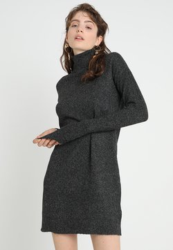 Vero Moda - VMBRILLIANT ROLLNECK DRESS  - Neulemekko - black melange