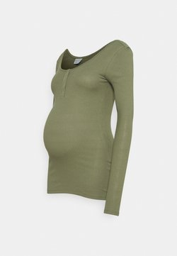 Pieces Maternity - PCMKITTE - Pitkähihainen paita - deep lichen green