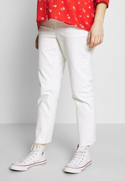Topshop Maternity - OB CLEAN - Straight leg jeans - white