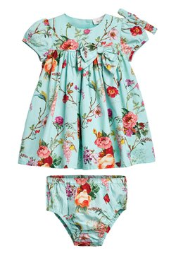 Next - TEAL FLORAL PROM DRESS WITH KNICKERS AND HEADBAND (0MTHS-2YRS) - Freizeitkleid - blue