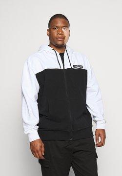 Calvin Klein - COLOR BLOCK ZIP HOODIE - veste en sweat zippée - black
