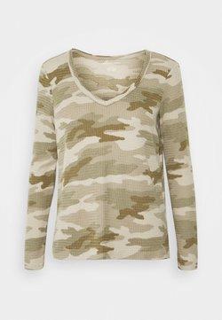 American Eagle - BUTTER PLUSH PRINT  - Camiseta de manga larga - green