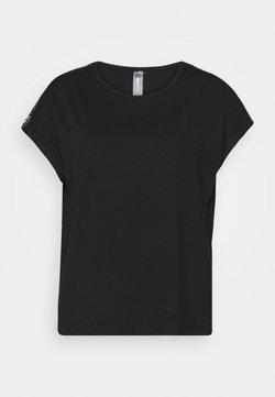 ONLY PLAY Tall - ONPADREY LOOSE TRAINING TEE - T-shirt print - black/white
