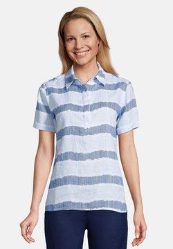 LANDS' END - Bluse - blue/white dyed stripe
