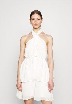 Gina Tricot - EXCLUSIVE MALVA HALTERNECK DRESS - Cocktailkleid/festliches Kleid - white
