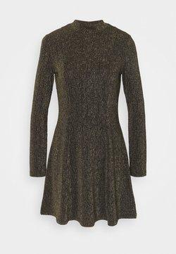 Monki - RITVA DRESS - Vestido de cóctel - gold/black