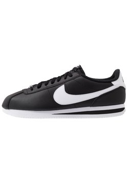 Nike Sportswear - CORTEZ BASIC - Matalavartiset tennarit - black/white/metallic silver