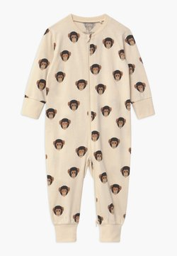 Lindex - MONKEY FACES UNISEX - Pyjamas - light beige