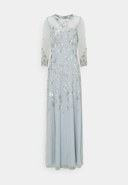 Adrianna Papell - BEADED COVERED COCKTAIL LONG - Iltapuku - blue heather