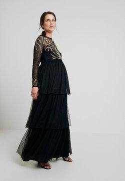 Maya Deluxe Maternity - EMBELLISHED BODICE MAXI DRESS - Maxiklänning - black