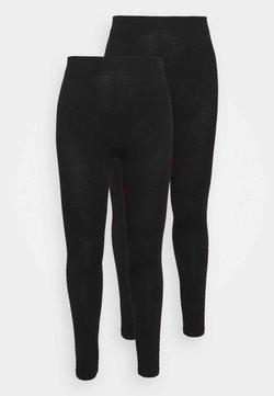 Dorothy Perkins Curve - 2 PACK  - Leggings - Trousers - black