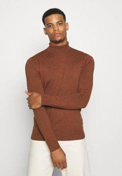 Burton Menswear London - FINE GAUGE ROLL  - Jersey de punto - ginger