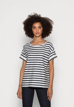 Esprit - COO STRIPE - T-Shirt print - navy