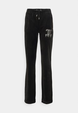 Juicy Couture - TINA DRIPPING TRACK PANTS - Jogginghose - black