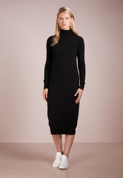 pure cashmere - TURTLENECK DRESS - Maxikleid - black