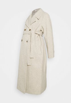 Dorothy Perkins Maternity - DOUBLE BREASTED FASHION WRAP COAT - Abrigo - ivory