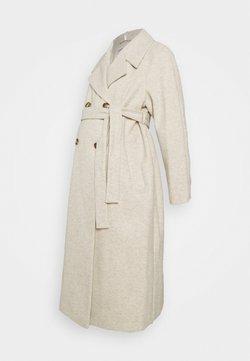 Dorothy Perkins Maternity - DOUBLE BREASTED FASHION WRAP COAT - Abrigo - ivory