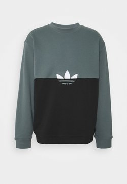 adidas Originals - SLICE CREW - Sweater - black/blue oxide