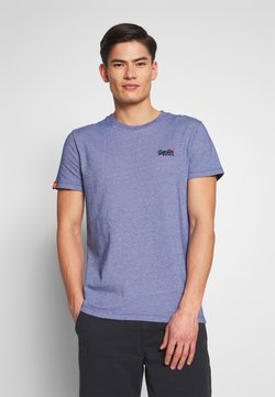 Superdry - VINTAGE CREW - T-Shirt basic - cobalt