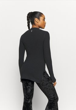 Free People - BLISSED OUT LONG SLEEVE - Camiseta de manga larga - black