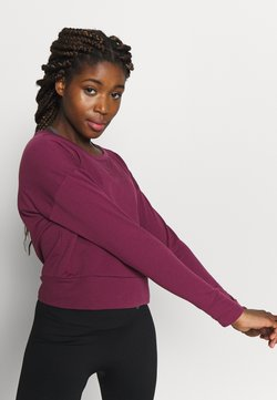 Nike Performance - YOGA WRAP COVERUP - Sweatshirt - villain red/shadowberry