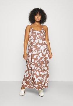 NU-IN - CAMI STRAP TIERED DRESS - Maxikleid - brown