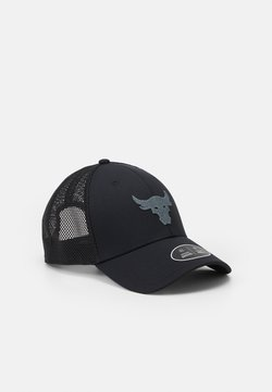 Under Armour - PROJECT ROCK TRUCKER UNISEX - Lippalakki - black/pitch gray