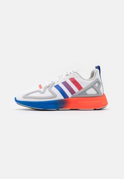 adidas Originals - ZX 2K FLUX SPORTS INSPIRED SHOES UNISEX - Sneaker low - grey one/core black/blue