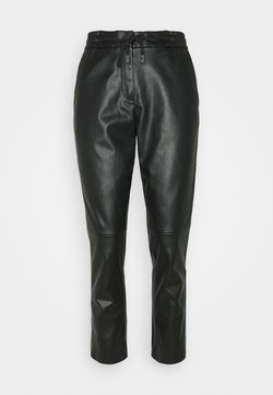 TOM TAILOR - LOOSE FIT PANT - Stoffhose - deep black