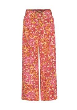 Ro&Zo - LUREX TILE PRINT - Stoffhose - pink
