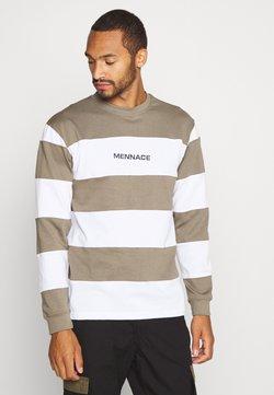 Mennace - PANELLED STRIPE - Maglietta a manica lunga - khaki