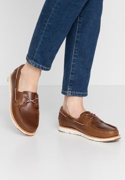 Timberland - CAMDEN FALLS - Chaussures bateau - mid brown