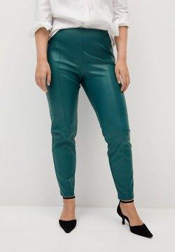 Violeta by Mango - POLI - Pantalon en cuir - dark green