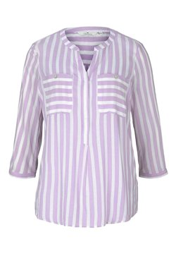 TOM TAILOR - Bluse - lilac white vertical stripe