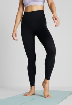 Nike Performance - THE YOGA LUXE 7/8 - Tights - black/dark smoke grey