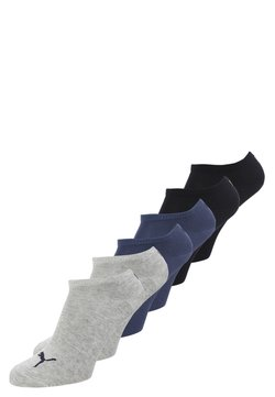 Puma - SNEAKER PLAIN 6 PACK UNISEX - Varrettomat sukat - navy/grey/nightshadow blue