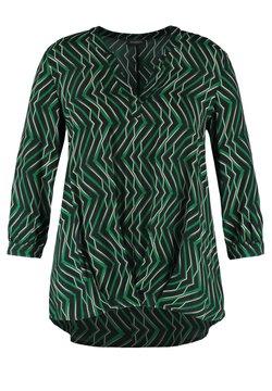 Samoon - Bluse - leaves green gemustert