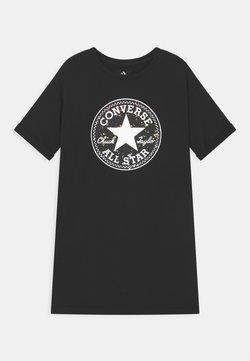 Converse - SHORT SLEEVE CHUCK PATCH  - Freizeitkleid - black