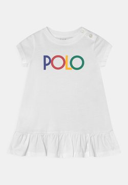 Polo Ralph Lauren - FLOUNCE DAY DRESS SET - Jerseykleid - white