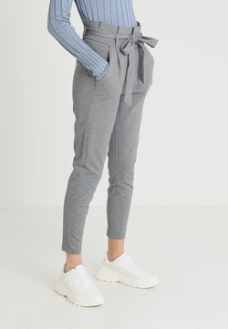Vero Moda - VMEVA LOOSE PAPERBAG PANT - Spodnie materiałowe - medium grey