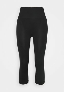 Smilodox - SEAMLESS DAMEN CAPRI BLOOM - Tights - schwarz