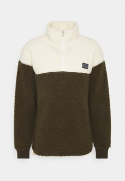 Jack & Jones - JOROVER HALF ZIP - Fleecegenser - forest night