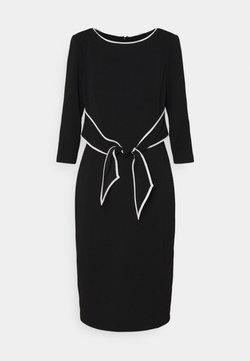 Adrianna Papell - TIPPED TIE DRESS - Cocktailkleid/festliches Kleid - black/ivory