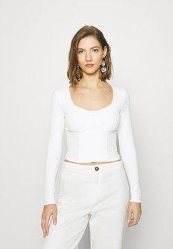 Monki - VINNIE  - Langarmshirt - solid offwhite