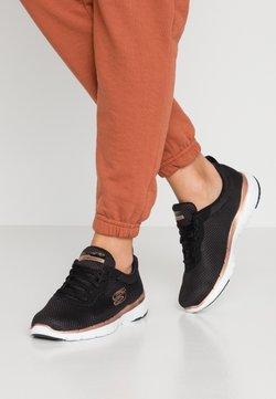 Skechers Sport - FLEX APPEAL 3.0 - Sneaker low - black/rose gold